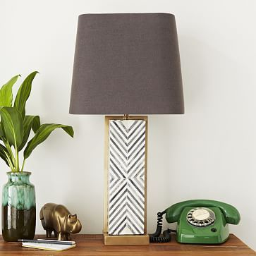 Linework Table Lamp Blue West Elm Howell Family