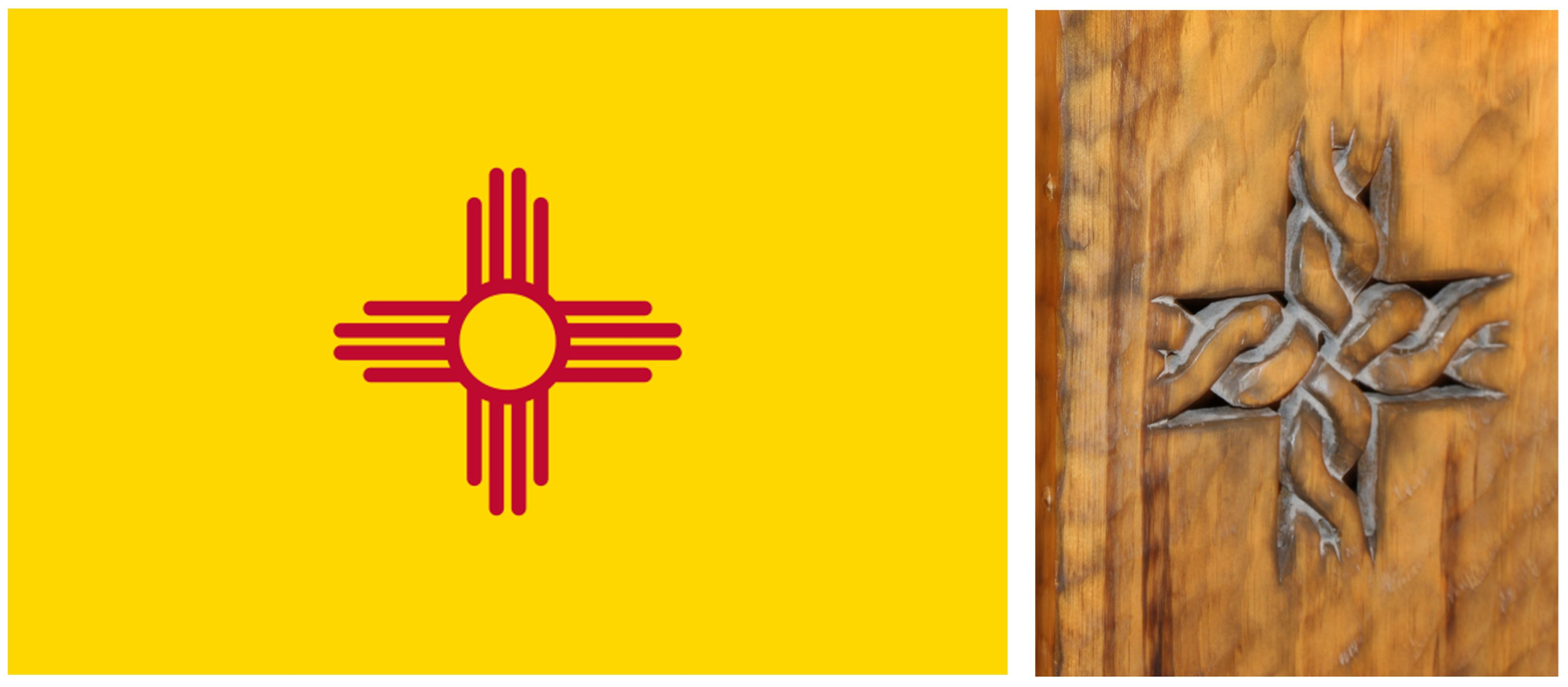 Learn about the meaning of the zia on the new mexico state flag on learn about the meaning of the zia on the new mexico state flag on our blog today click the image to find out art petroglyphs symbolism symbols buycottarizona