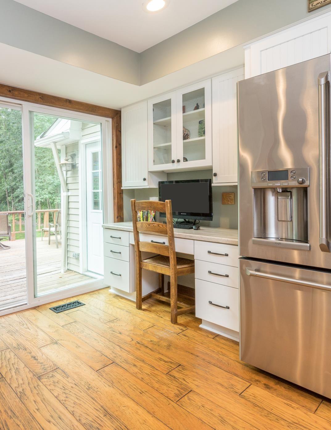 IDX  White kitchen cabinets, Home, Kitchen desks