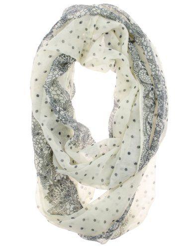 Polka Dot Floral Vintage Feel Super Soft Infinity Scarf (Ivory/Black) Cotton Cantina,http://www.amazon.com/dp/B00CPQHVJ0/ref=cm_sw_r_pi_dp_Aj9qsb0CQAR1ZG5J