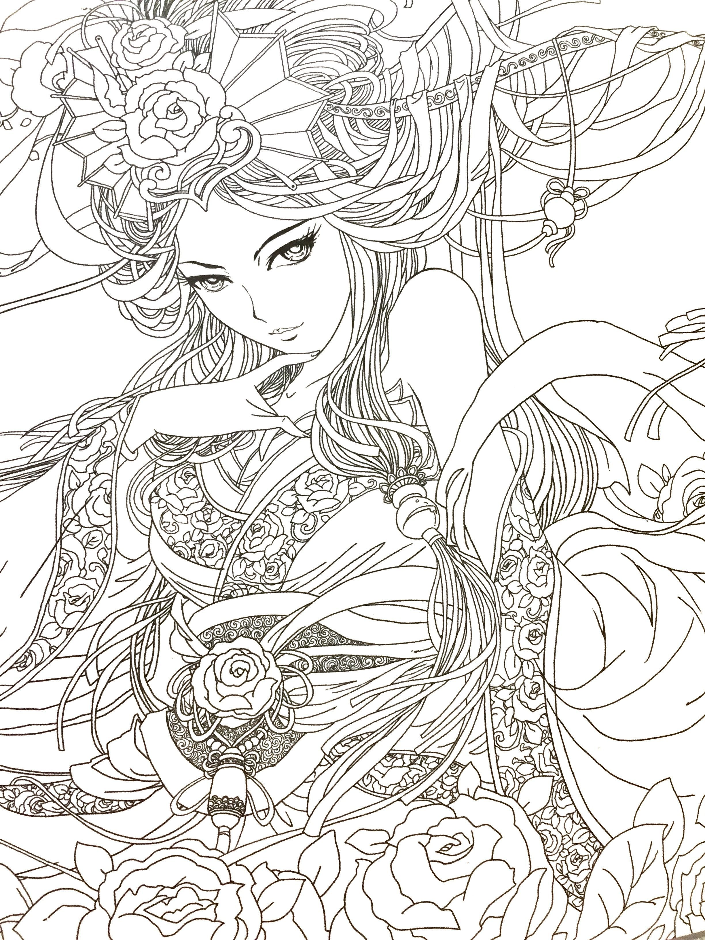 Dream Of Red Mansion Chinese Coloring Book For Adult Coloring