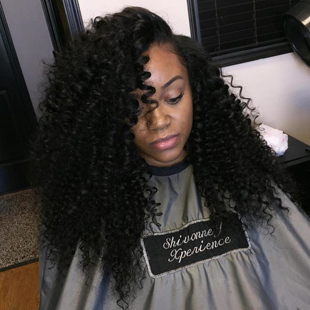 Burmese Curly 4 Bundles Installed By Shivonnejxperience