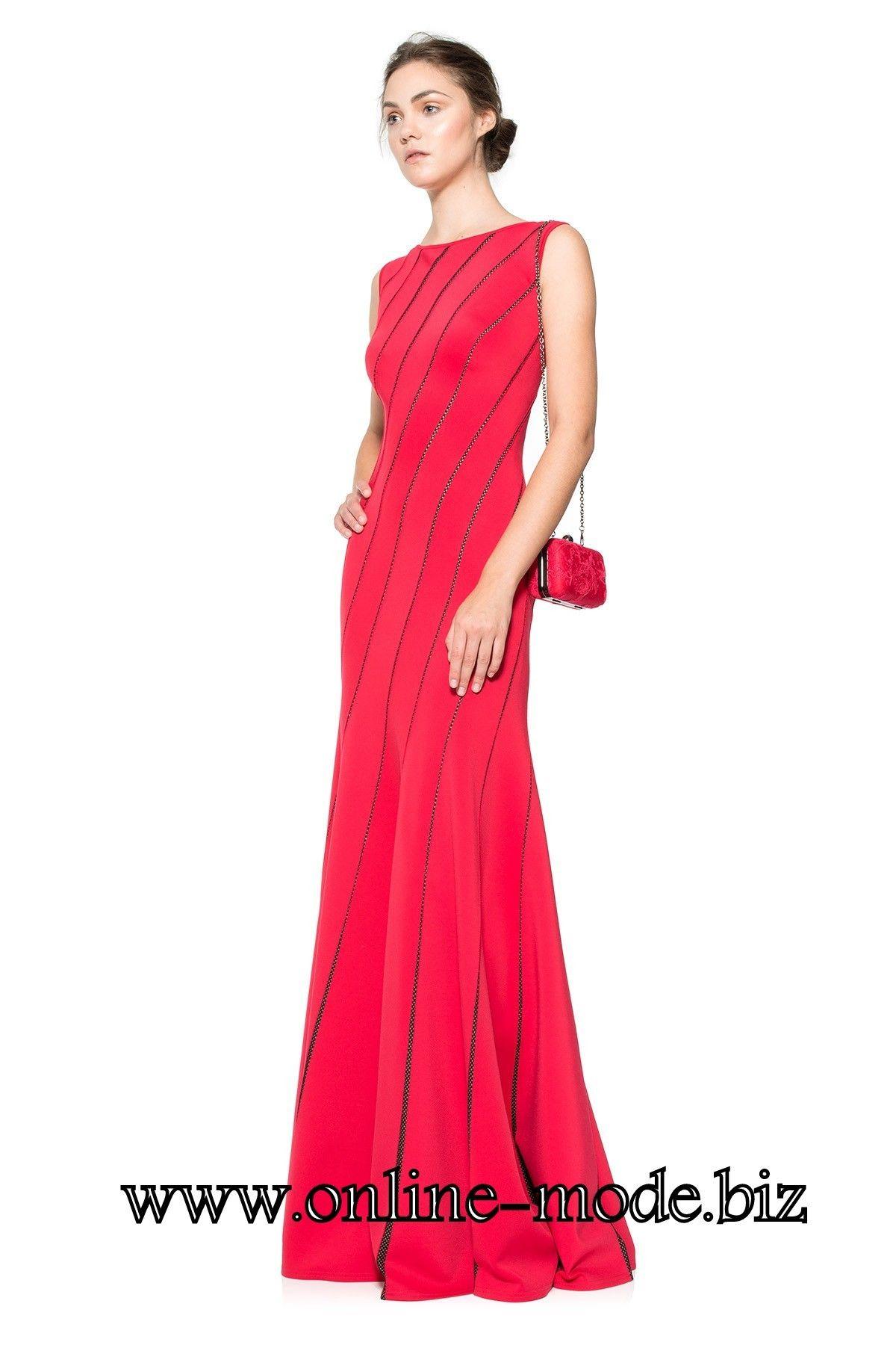 Schlichtes Abendkleid Bodenlang in Rot | Rote Kleider online kaufen ...
