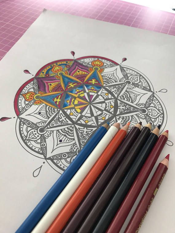 Printable Mandala Printable Coloring Page | Pinterest | Mandala ...