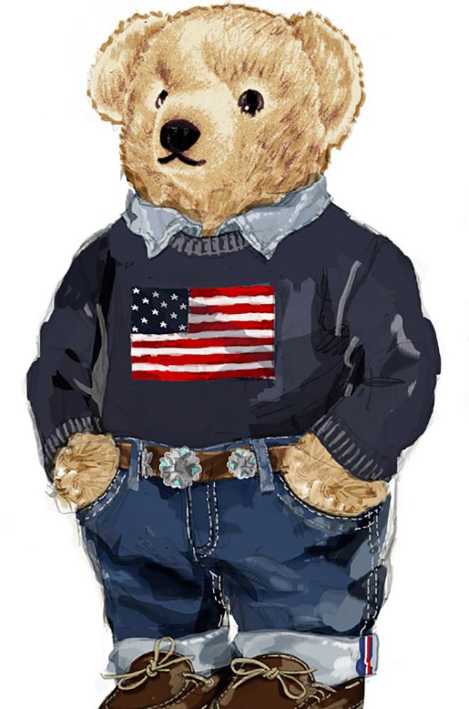 Polo Bear 09 Alfalfa Studio Teddy Bear Wallpaper Bear Graphic Ralph Lauren Men Outfit