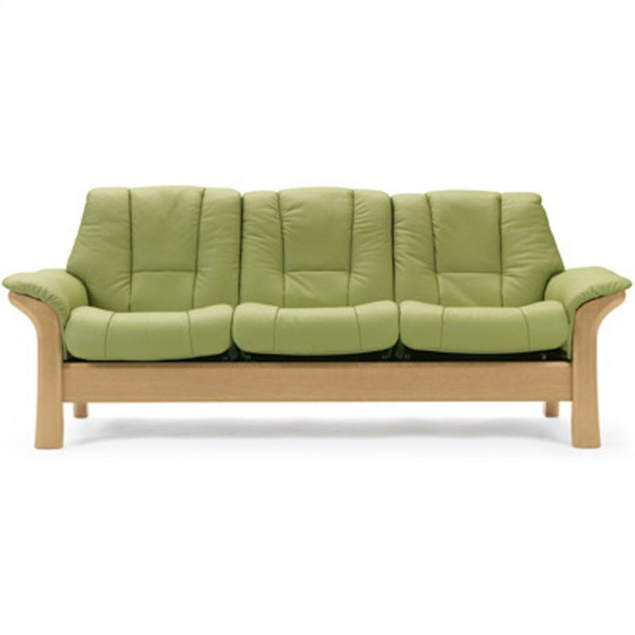 Furniture, Simple Modern Green Leather Sofa Design With Wooden Frame ...