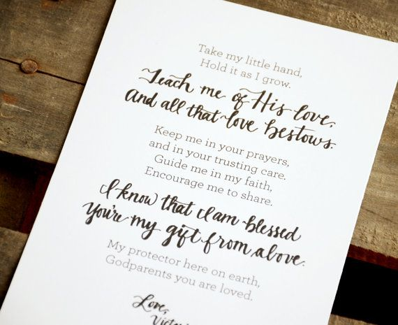 Godparents Poem, Typography Printables Instant Download! on Etsy, USD1 ...