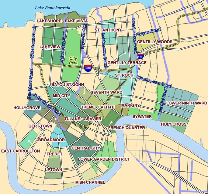 new orleans uptown map Stock Images Pinterest