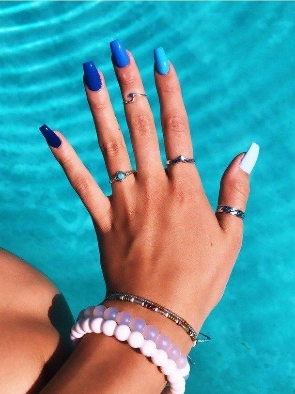 50 Spring Nail Designs Will Make You Excited 2 The Post 50 Spring Nail Designs Will Make You Exc Wedding Acrylic Nails Nails After Acrylics Blue Acrylic Nails