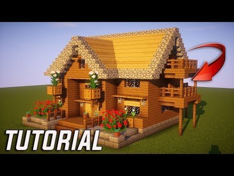 Minecraft How To Build A Small Survival House Tutorial 10 Easy Build Youtube Maison Minecraft Batiments Minecraft Petite Maison Minecraft