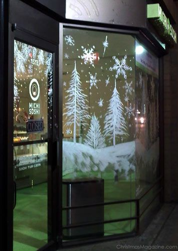 Painted window paint sliding glass doors peinture sur vitre pinterest no l carreaux de - Enlever peinture sur vitre ...