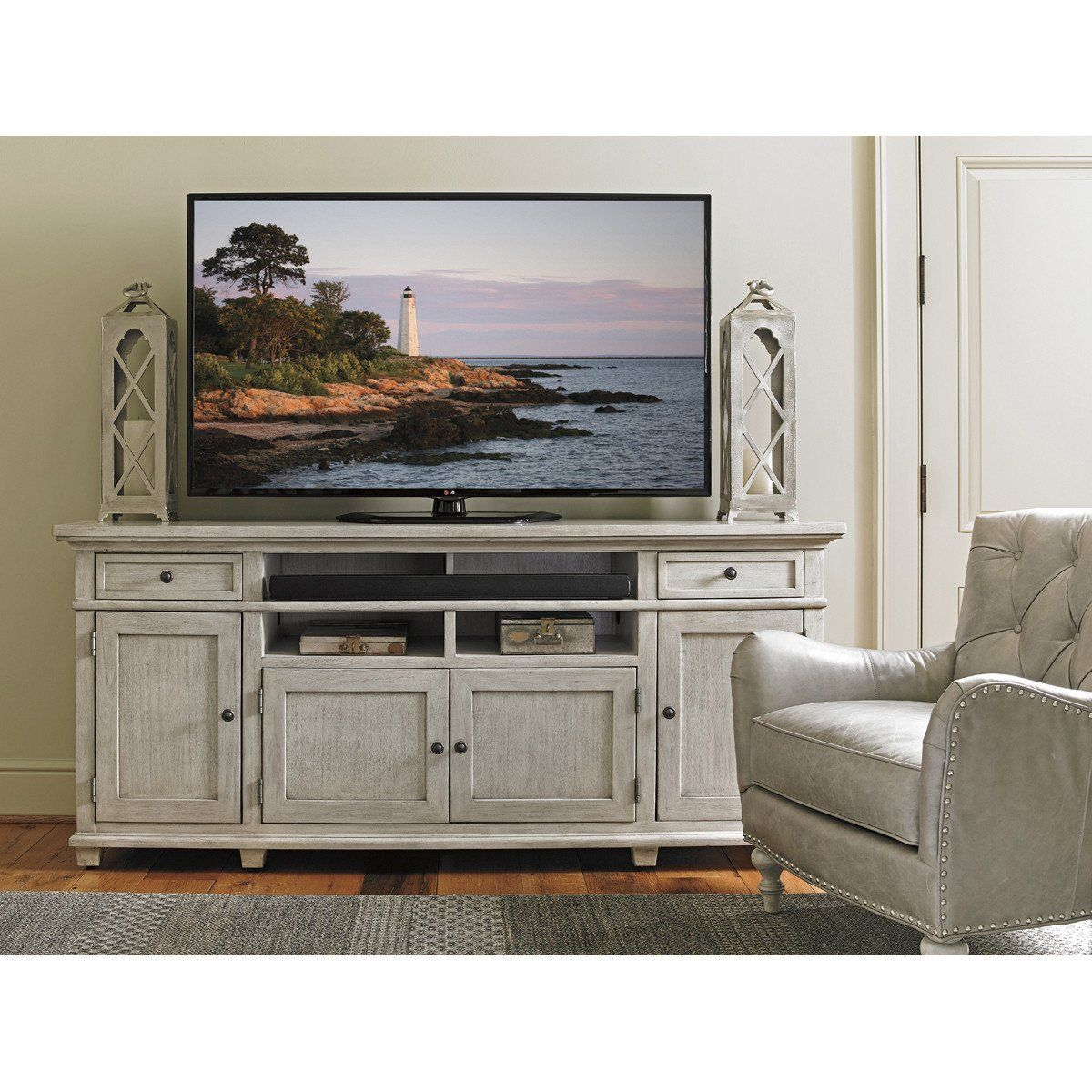 Lexington Oyster Bay Kings Point Media Console is part of Neutral Living Room TV Stand - furniture