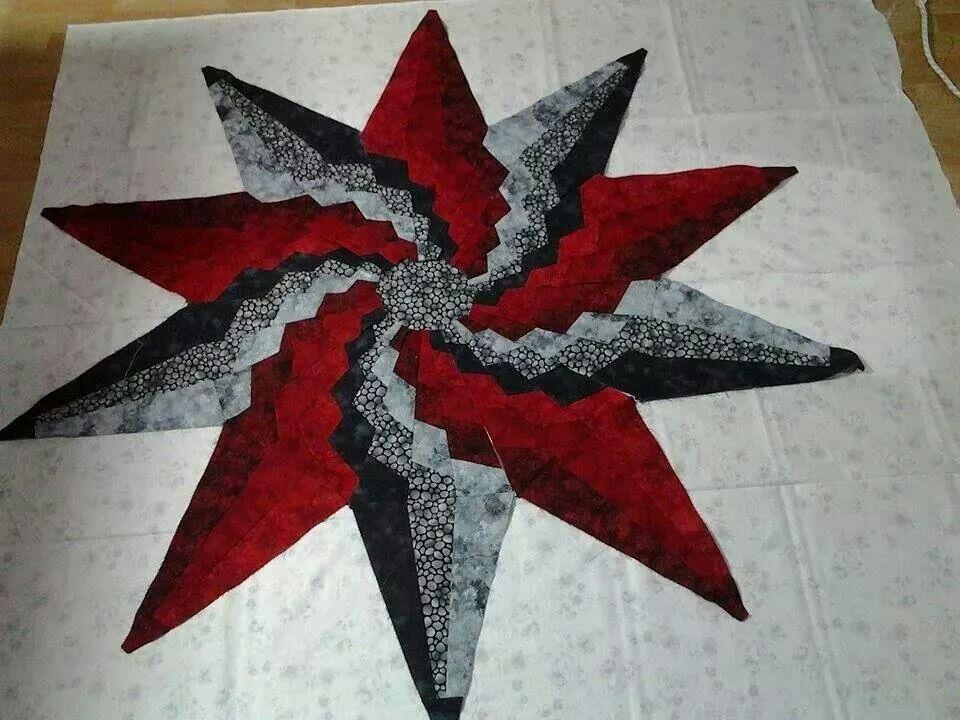 Stargello Quilt block pattern