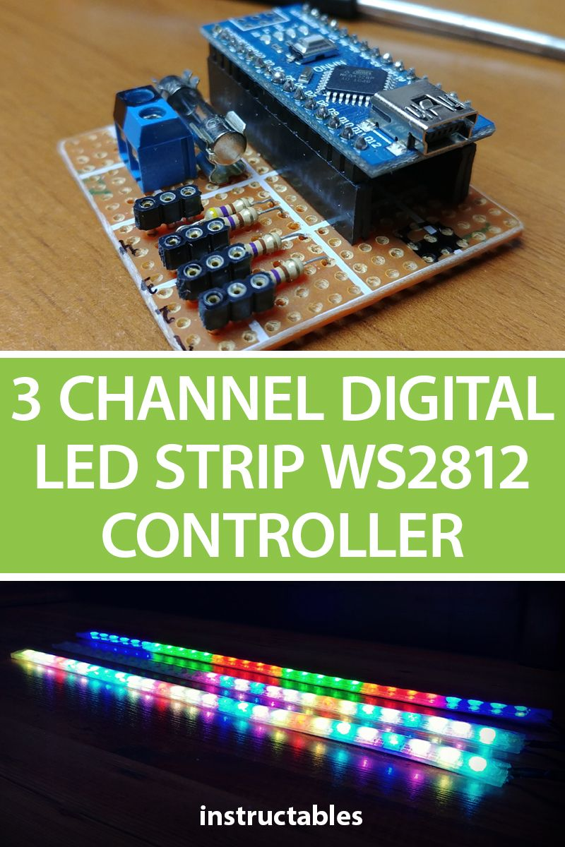 3 Channel Digital LED Strip WS2812 Controller Arduino