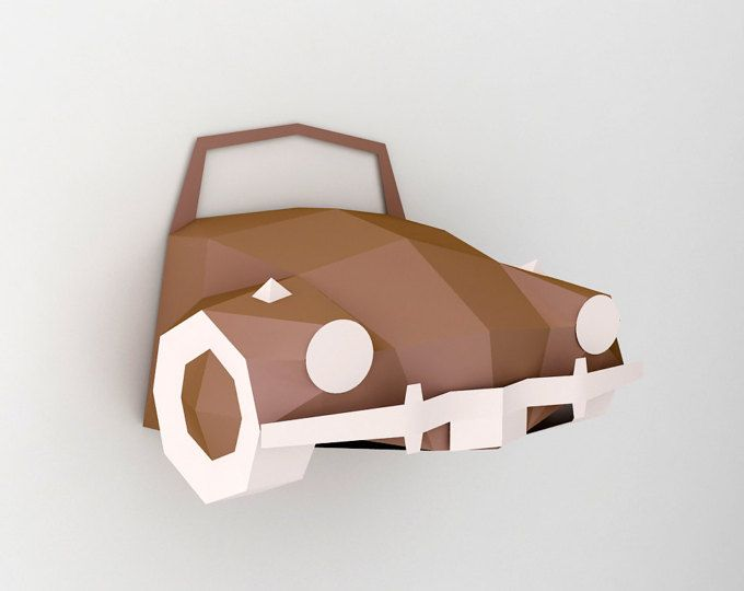24+ Diy Car Wall Decor – 3D Papercrafts Design