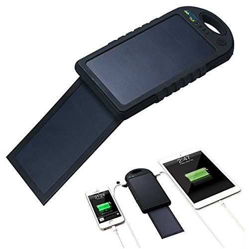Greenlighting Solar Phone Charger 2000mah Window Cling Power Bank Grey Solar Charger Portable Solar Powered Phone Charger Dual Usb