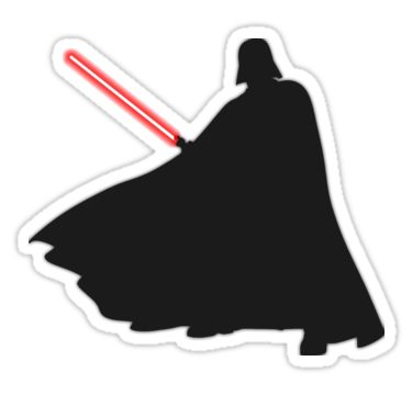 Star Wars Rogue One Darth Vader Stickers By Fn2187 Redbubble Darth Vader Sticker Star Wars Stickers Darth Vader Png