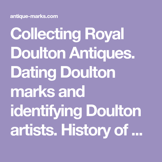Royal doulton identifying marks dating