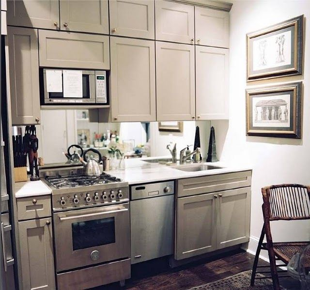 Lovely Grey Mini Kitchen. Apartment Living. Condo. Home