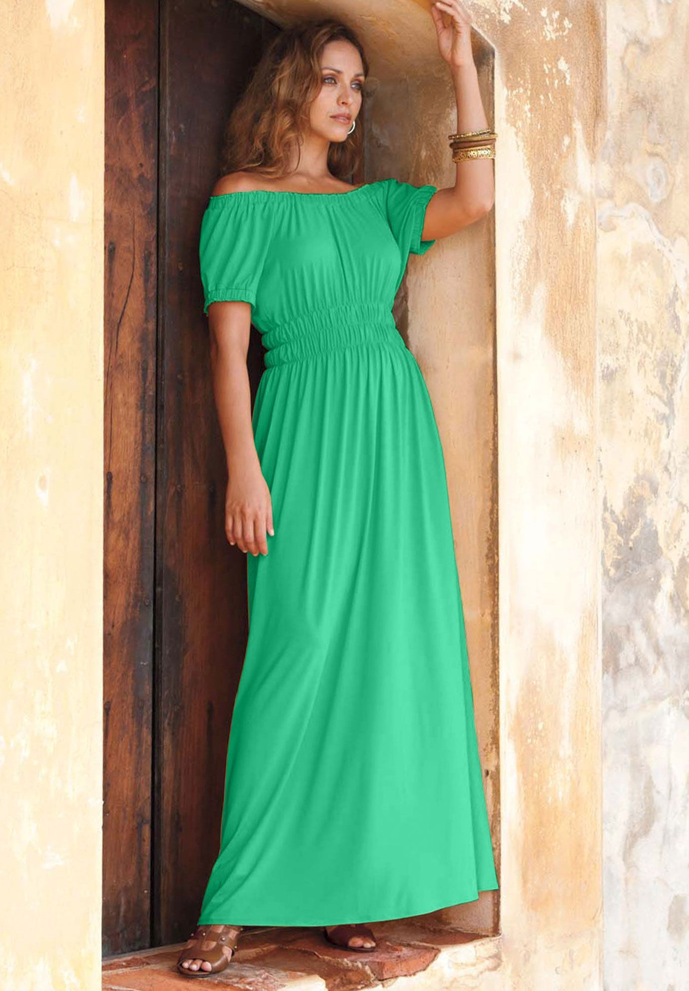 Plus Size Peasant Style Maxi Dress | Plus Size Dresses | Jessica ...