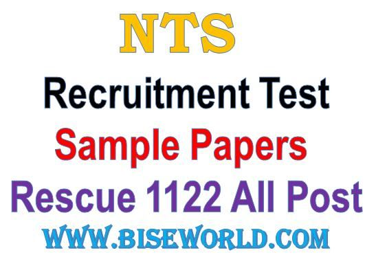 Nts Rescue  Sample Paper  Results    Sample Paper