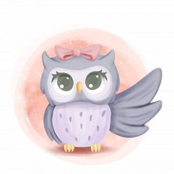 Free Download Big Owl Png Images Owl Clipart Hand Painted Owl Vector Arts Psd Files And Background Baby Owls Baby Animal Drawings Cute Baby Owl