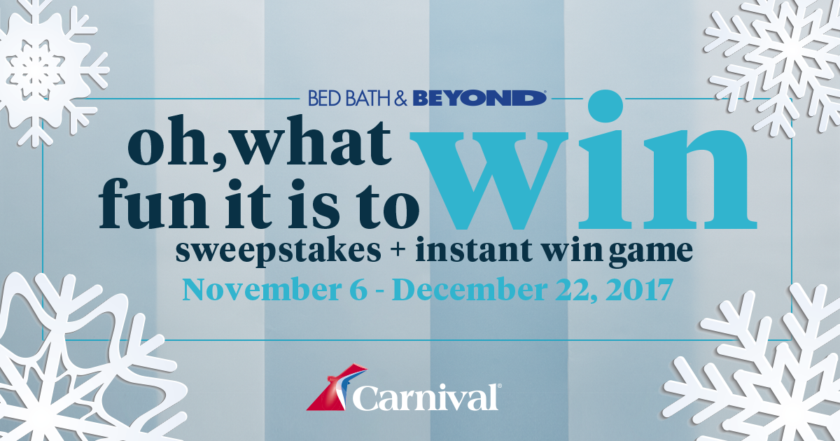 47 Days Of Instant Prizes Play Daily One Lucky Winner Each Day Plus A Carnival Cruise And A 1 000 Bed Bat Sweepstakes Contests Sweepstakes Sweepstakes 2017