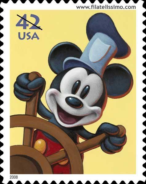 Timbres postales disney