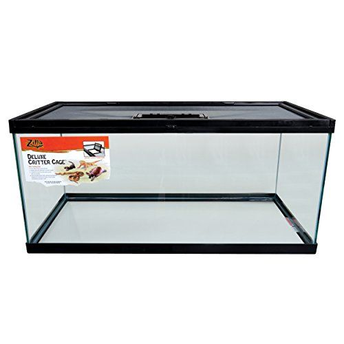 Zilla 13288 Deluxe Critter Cage With Feeding Door 40 Gallon This Product Is Easy To Use This Product Adds A Great V Bearded Dragon Feed Door Dog Grave Ideas