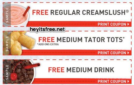 photograph about Sonic Printable Coupon titled Sonic Birthday Freebie: Absolutely free every month creamslush, cost-free medium