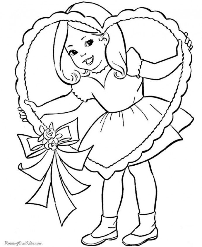 Easy Valentines day Colouring pages, Printable valentines day ...