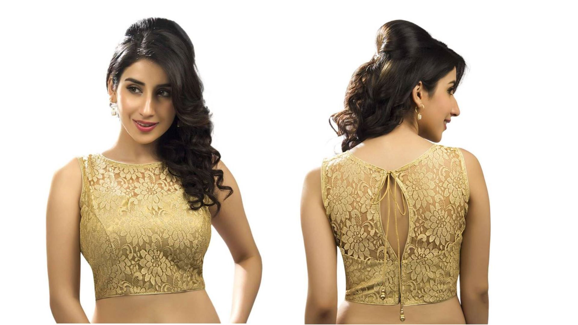 100 Latest Blouse Designs With Back Neck Images Golden Blouse Designs Saree Blouse Designs Latest Blouse Designs
