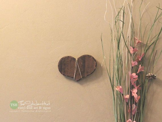 Small Wood Heart - Wood Sign - Distressed Wooden Signs - Home Decor ...