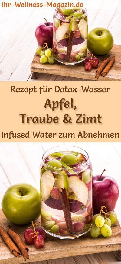 Apfel-Trauben-Zimt-Wasser - Rezept für Infused Water - Detox-Wasser