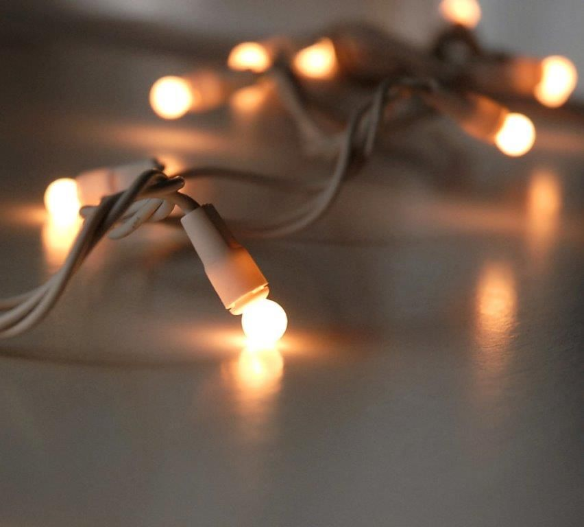 Pearl White Mini Globe String Lights 17.5