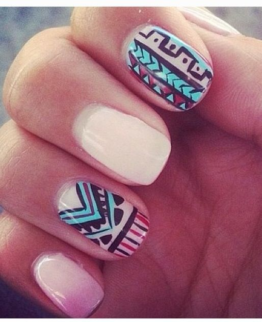 15 Nail Designs We\'ll Never Be Able To Do | Aztec nail designs ...
