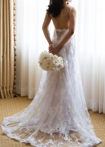 Inbal dror inspired custom backless used wedding dress size 2 inbal dror inspired custom backless used wedding dress size 2 nearly newlywed junglespirit Choice Image