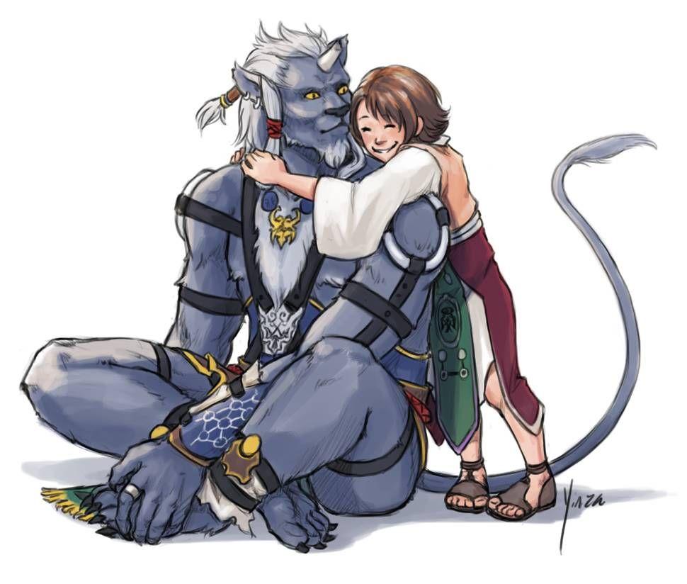 Ffx Kimahri And Yuna Final Fantasy X Final Fantasy Characters Final Fantasy Art