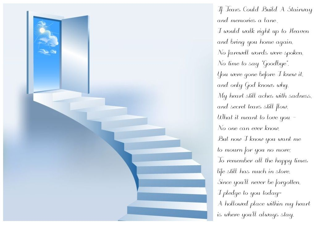 if tears could build a stairway funeral poems pinterest lost sweet and the o 39 jays. Black Bedroom Furniture Sets. Home Design Ideas