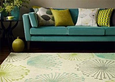 1950s Style Dandelion Rug By Sanderson From Woven Ground