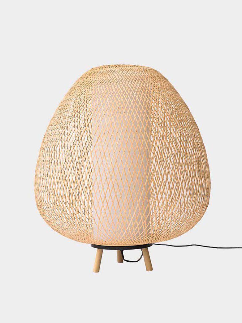 Twiggy Egg Natural Golvlampa Bambu Twiggy