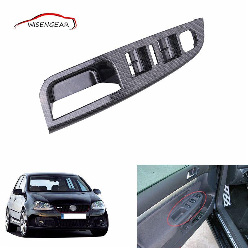 Carbon Grain Master Window Mirror Switch Control Panel Trim Bezel Inside Door Handle Cover For Vw Jetta Golf Mk5 1k486 Window Mirror Door Handles Inside Doors