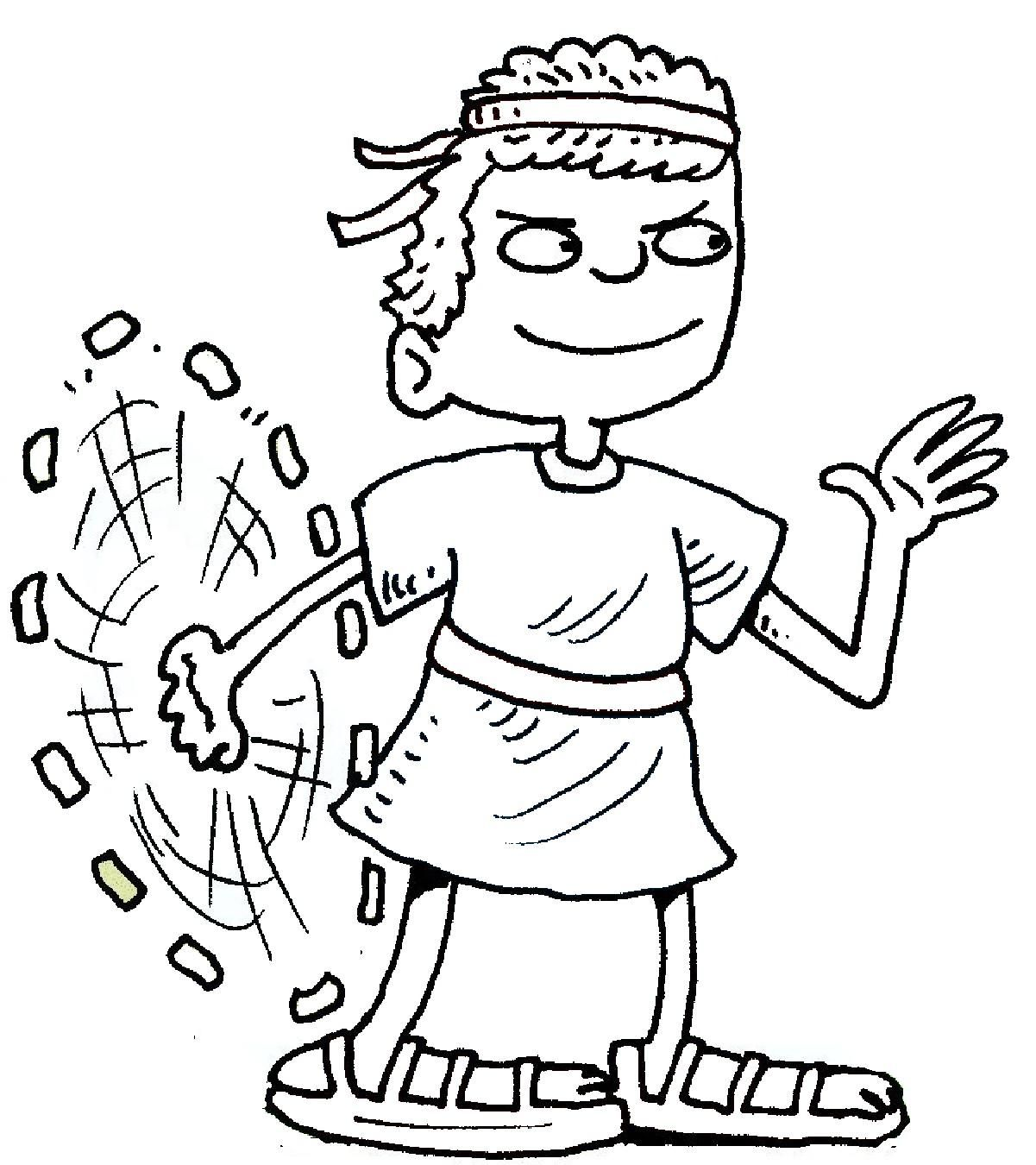 preschool coloring pages david and goliath 4 preschool coloring