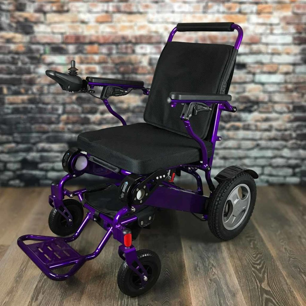 new concept e03f0 2d781 Heavy-Duty FOLD & GO Electric Wheelchair® (Black) in 2019 ...