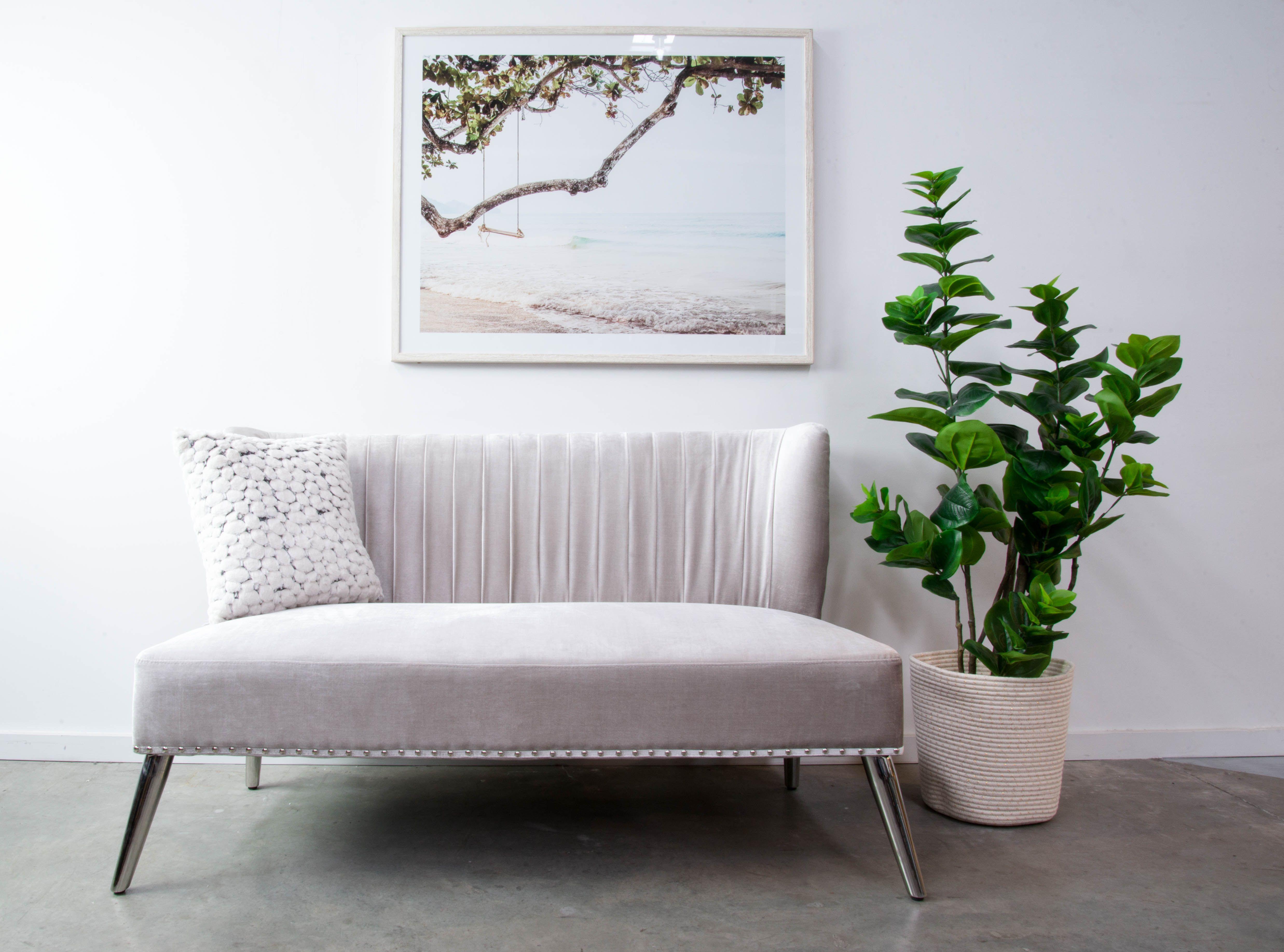 Levy Sofa In Grey Velvet Setting Shots By Interior Secrets