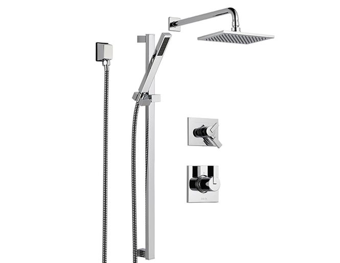 Vero Shower Faucet With Handshower And Shower Head Kit Delta Shower Heads Shower Faucet Shower