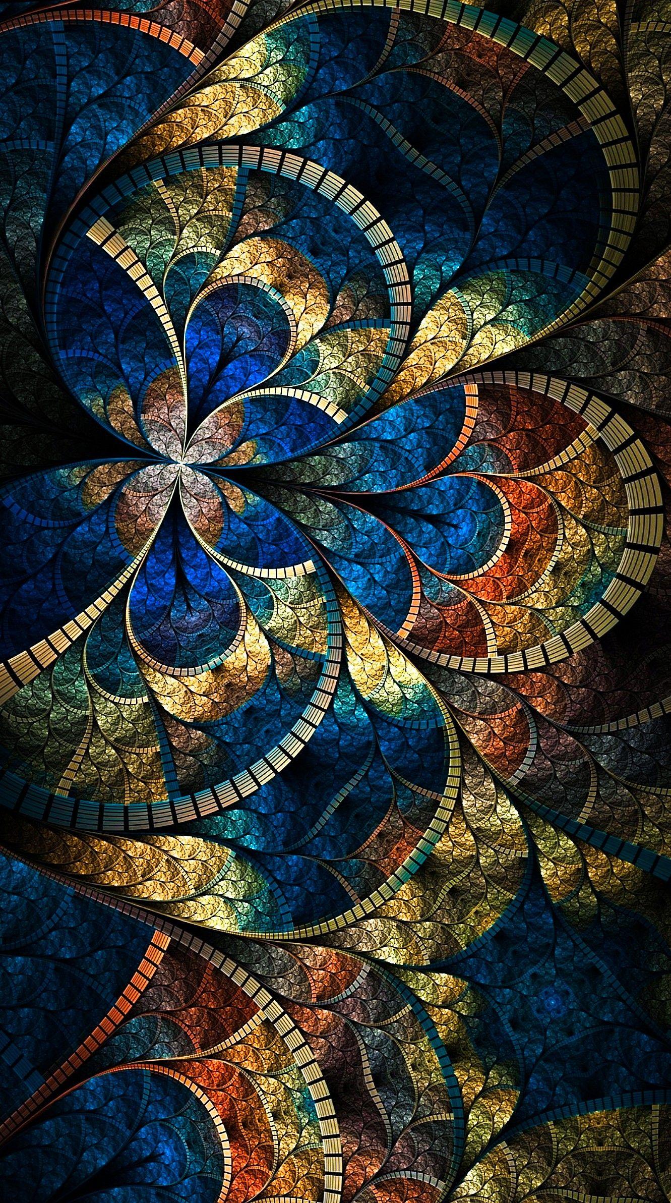 Blue And Gold Kaleidoscope Mandala Wallpaper Mandala Wallpaper Iphone Wallpaper Tumblr Aesthetic Wallpapers Vintage