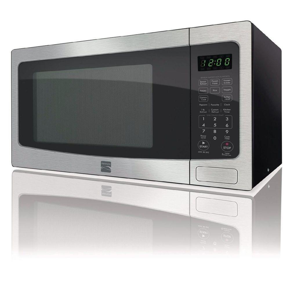 Kenmore 1 6 Cu Ft Countertop Microwave Stainless Steel 73163
