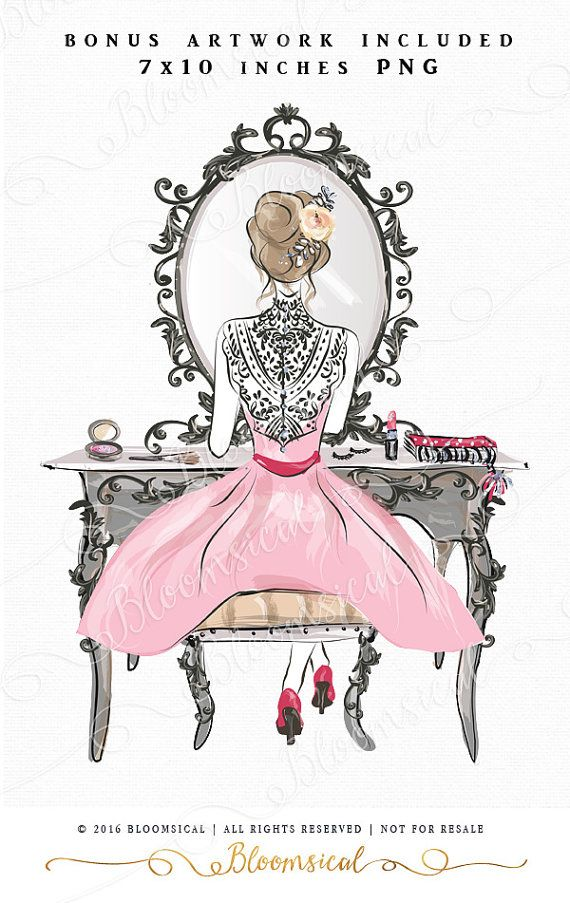 Beauty clipart CA525 Chic clipart Commercial use Blonde girl Fashion clipart Digital graphics Fashion scrapbooking