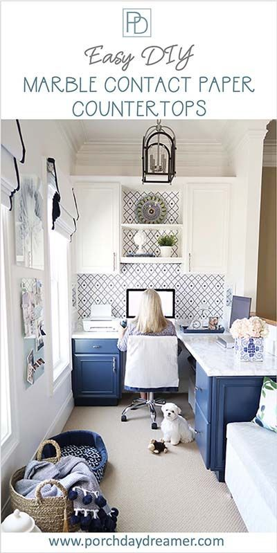 Easy to Install Faux Contact Paper Marble Counters ...